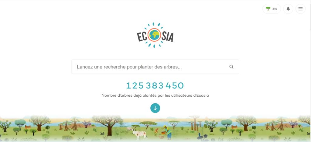 S'engager sans devenir bénévole : Ecosia